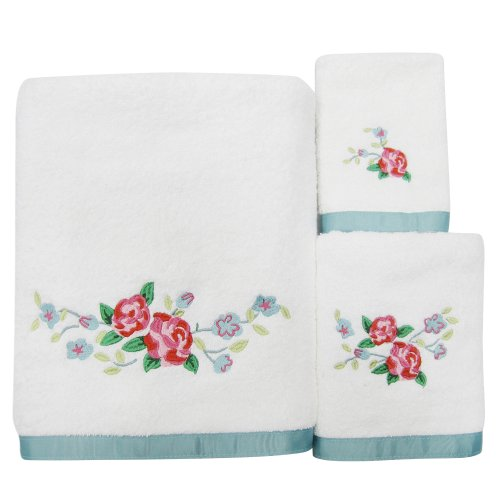 Allure Home Creations Vintage Lace 100% Cotton 3-Piece Towel Set (Vintage Bath Towels compare prices)