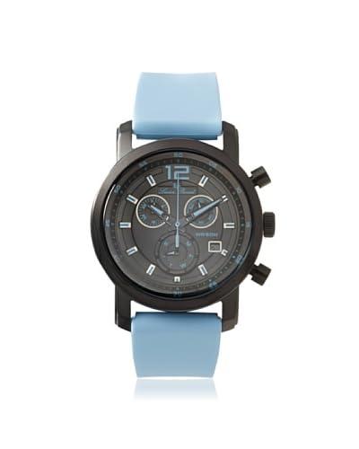 Lucien Piccard Unisex 12585-BB-01-BBLAS Toules Light Blue/Black Silicone Watch