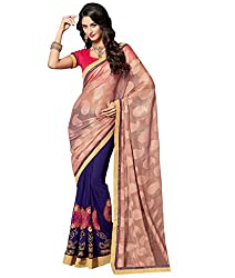 coolwomen women's georgette embroidered free size fancy saree-cw_cwRGNA355_multicolor_free size