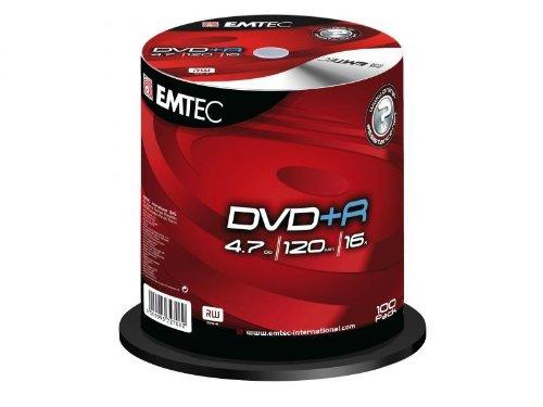 EMTEC Pack de 100 DVD+R 4,7 GB 16x Speed