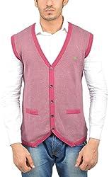 UV&W Men's Cotton Sweater (WSSF22 WINE, M)
