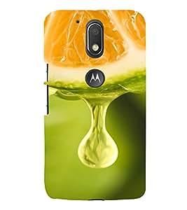 PrintVisa Orange Juice Design 3D Hard Polycarbonate Designer Back Case Cover for Motorola Moto G4 Plus
