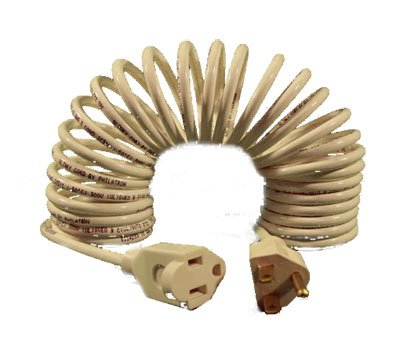 FlexyTM Coiled Extension Cord 14 Gauge 15 Amps - Extends From 5 In. To 8 Ft.