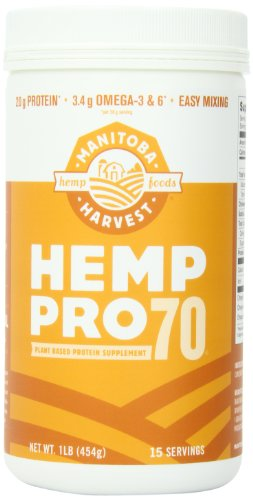 Manitoba Harvest Hemp Pro 70 Protein Supplement, 16 Ounce