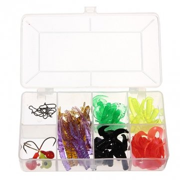 pakhuis-59-pieces-soft-worm-grub-fishing-lures-baits-jigs-heads-lead-swivels