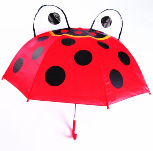 Kids Umbrella - Childrens 18 Inch Rainy Day Umbrella - Ladybug - 1