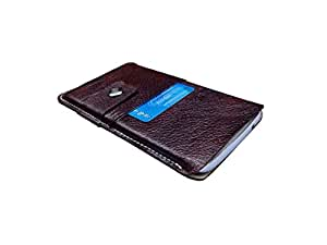ATV Genuine Leather BROWN Designer pouch Case Cover For Oppo Find