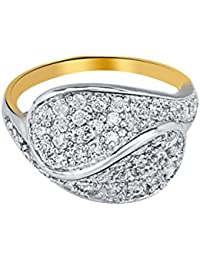 Fashion Johari Unique Latest Design Trendy Ring. Antique Gold Plated Ring Studded With CZ American Diamonds. Artificial...