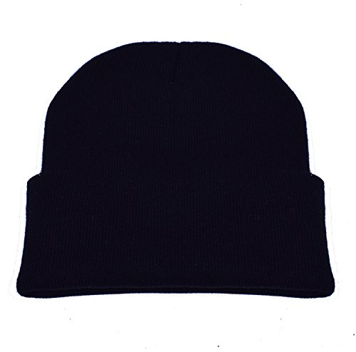 PZLE Black Beanie Black Skull Cap Knit Beanie Black Beanie Slouch Hats Black (Customer Images compare prices)