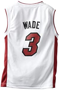 NBA Miami Heat Dwayne Wade Youth 8-20 Replica Home Jersey, Large, White