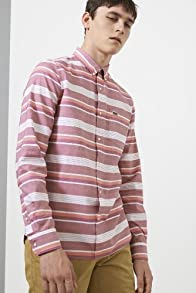 L!ve Long Sleeve Bd Horizontal Stripe Oxford Woven Shirt