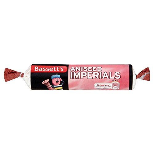Bassetts Imperials Aniseed - 40g - Pack of 12 (40g x 12 Rolls) (Aniseed Imperials compare prices)