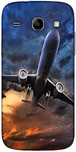 Snoogg Airliner Take Off Illustration Solid Snap On - Back Cover All Around P...