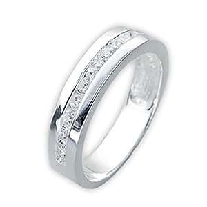 """Schmuck-Pur 925/- Sterling-Silber Damen-Ring mit Zirkonia im Memory-Design """"Leana"""" (Größe 16)"""