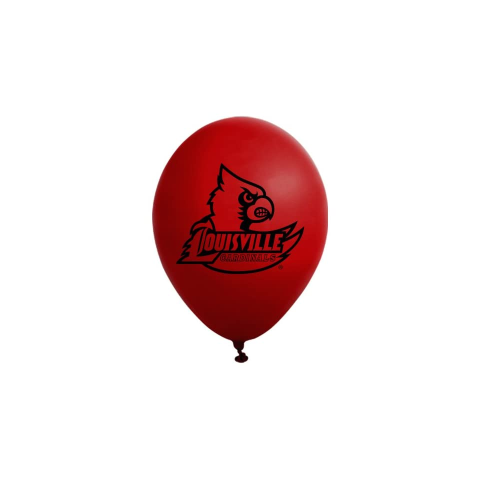 NCAA Louisville Cardinals Red 10 Pack 11 Round Latex Party Balloons