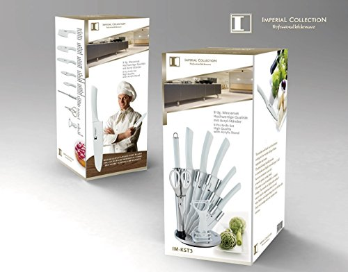 Imperial collection stainless steel kitchen knife 9 piece for Harga kitchen set stainless per meter