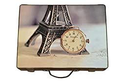 Designer Print watch box - Paris Watch - 15 compartments