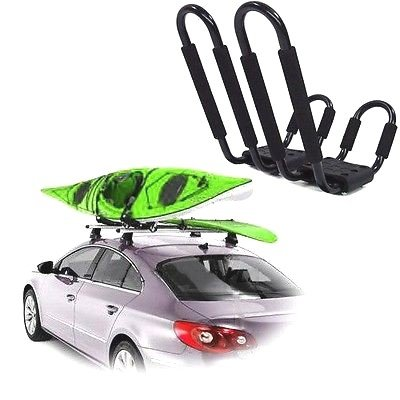 roof-rack-kayak-deluxe-carrier-boat-canoe-surf-ski-snowboard-top-mounted-j-bar-automotive-outdoor