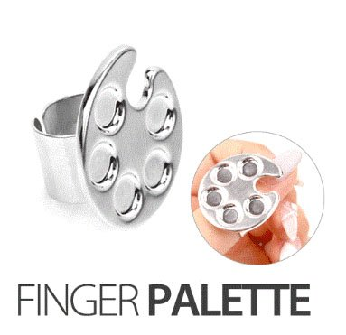 ネイルアートが楽になる、、ネイル時、使用する可愛いパレット指輪、clover、