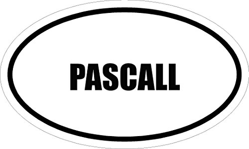 6-printed-pascall-name-oval-euro-style-vinyl-decal-sticker