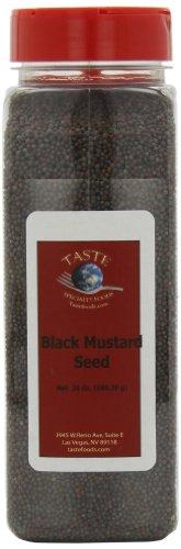 Taste Specialty Foods, Black Mustard Seeds, 24-Ounce Jars (Pack of 2)