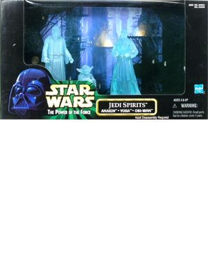 Star Wars Power Of The Force Cinema Scenes Jedi Spirits Anakin Yoda Obi-wan Action Figure Multi-pack by Toy Rocket