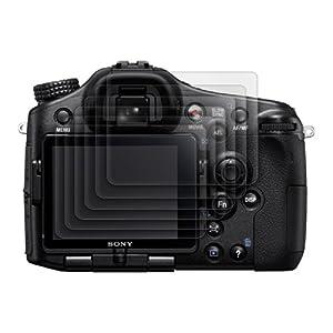 6x kwmobile® film de protection pour écran MAT et ANTI-REFLETS avec effet anti-traces de doigts pour Sony Alpha 77V (SLT-A77V). QUALITÉ SUPÉRIEURE
