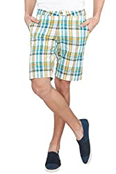 The Cotton Company Checkered Shorts - Arctic Lake Plaid