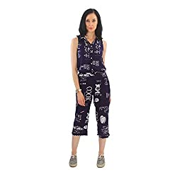Good Fashion Blue Printed Jumpsuit