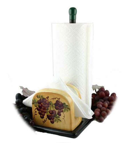 Tuscany Grape Paper Towel Holder  image