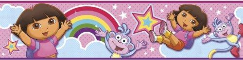 dora-explorer-rainbow-stars-self-stick-wall-border