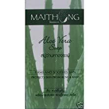 buy Maithong Aloe Vera Herbal Soap Bar Protect Acne 100G ( Best Sellers ) From Thailand By Molona