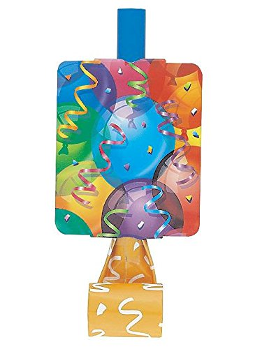 Brilliant Balloons Party Blowers (8 Pack) - 1