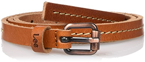 Lee THIN STITCHED BELT DARK COGNAC, Cintura Donna, Marrone (DARK COGNAC), 80 cm