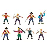 Pirate Figurine Set  8  Party Supplies