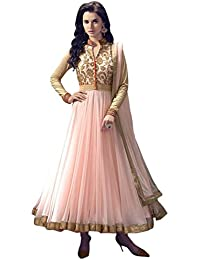 Shiroya Brothers Shiroya Brothers Women's Net Anarkali Salwar Suit Unstitched Regular Wear Dress Material(SB_DM_PINK...