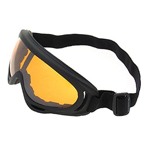 DuaFire Snowboarding Uni Lens Goggles Black Frame Amber color Ski Goggles Winter Sports
