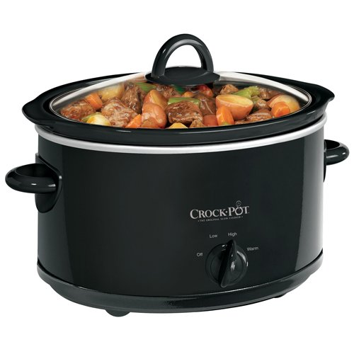 Crock-Pot SCV400B 4-Quart Oval Manual Slow Cooker, Black