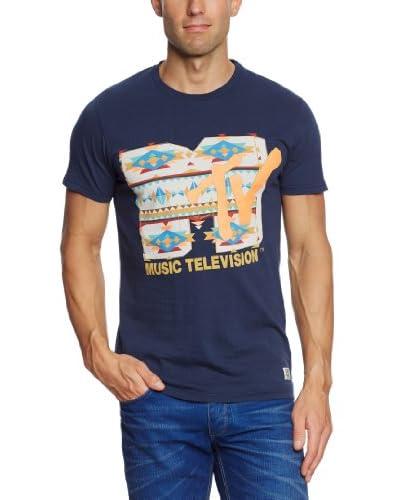 Jack and Jones Camiseta Manga Corta Azul Marino