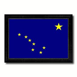Alaska State Flag Art Canvas Print Design Custome Picture Frame Office Wall Home Decor Interior Design Gift Ideas