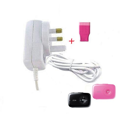 Sumnique 3 Pin UK Mains Charger For Creative Zen Stone + Free Funky Pink Sock
