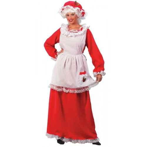 Mrs. Santa Claus 3-Piece Adult Costume - One Size Fits Most (2-14)