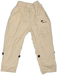 GOWRI MARKETING Boys' Regular Fit Capris (AM00067_5-6 years, Cream & Brown)