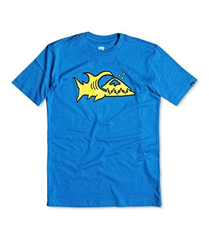 Quiksilver Little Boys' Fin Logo Tee, Victoria Blue, 6