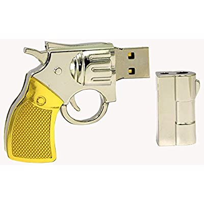 16 GB Pen Drive Golden Color Revolver Shape USB 2.0 Pen Drive MT1029