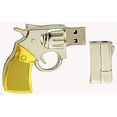 16 GB Pen Drive Golden Color Revolver Shape USB 2.0 Pen Drive MT1029