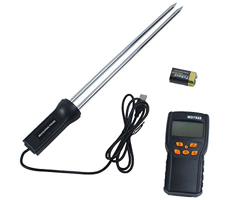 niceEshop(TM) Digital Grain Moisture Temperature Meter Tester (Black) (Rice Moisture Meter compare prices)