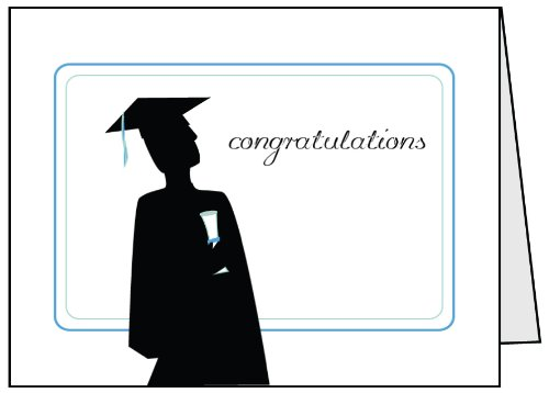 Congrats Graduation Greeting Cards &#8211; 12 Sets