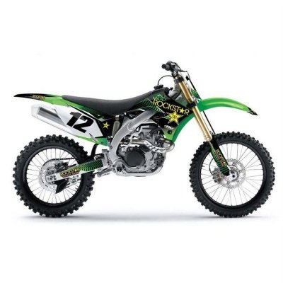 Factory Effex 1614110 Rockstar Shroud/Airbox Graphic Kit for Kawasaki KX85/KX100 Picture