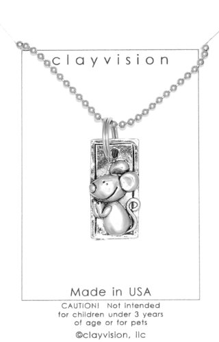 Clayvision Year of the Rat/Mouse Pendant Necklace